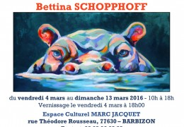 Invitation à l'exposition de Mme Bettina SCHOPPHOFF
