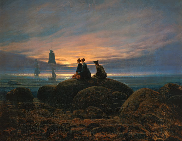 Barbizon : Caspar David Friedrich - Mondaufgang am Meer