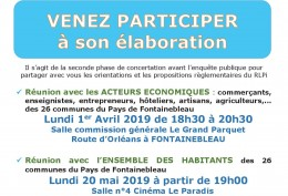REGLEMENT LOCAL DE PUBLICITE INTERCOMMUNAL REUNIONS AVRIL ET MAI 2019