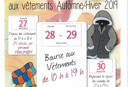 BOURSE AUX VETEMENTS SEPT 2019
